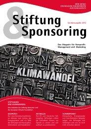Sonderheft Stiftung & Sponsoring - Stiftung Mercator