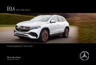 Mercedes-Benz Preisliste EQA