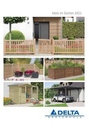 Delta Gartenholz HIG-Produkte