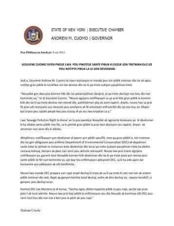 Haitian Creole - Governor Andrew M. Cuomo