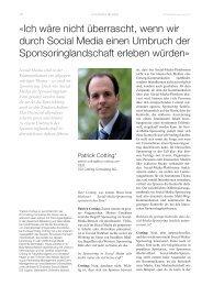 Social Media im Sponsoring-06-2011 - SPONSORING EXTRA NEWS