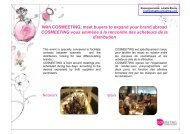 With COSMEETING, meet buyers to expand your brand abroad ...