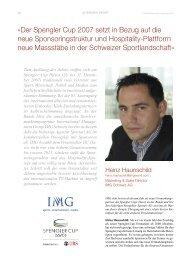Spengler Cup Davos/IMG Schweiz AG-12-2007 - SPONSORING ...