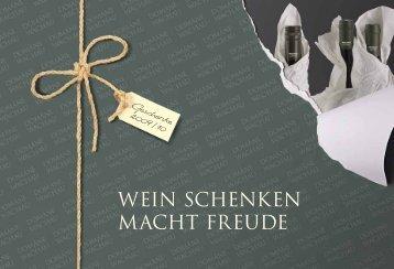 Wein Schenken macht Freude - Domäne Wachau