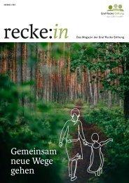 recke:in - Das Magazin der Graf Recke Stiftung Ausgabe 1/2021