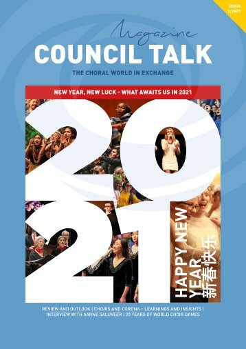 COUNCIL TALK - The digital magazine of the World Choir Council