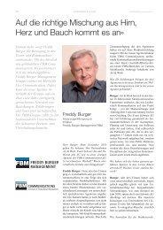 Freddy Burger Management-01-2011 - SPONSORING EXTRA NEWS