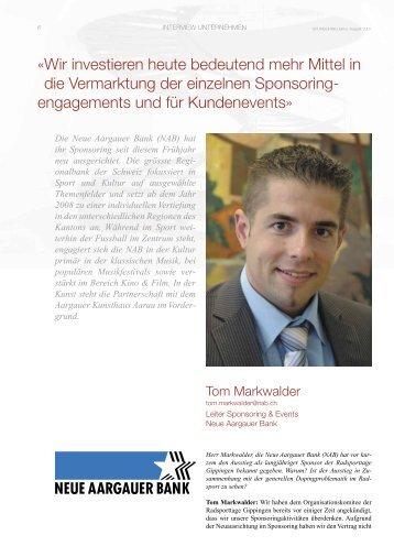 Neue Aargauer Bank-08-2007 - SPONSORING EXTRA NEWS