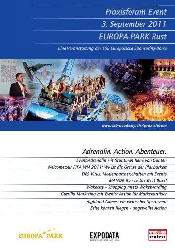 Praxisforum Event 3. September 2011 EUROPA-PARK Rust - ESB-online ...