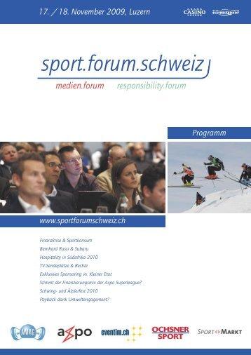 sport.forum.schweiz - Fit for Life