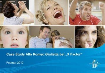 "Case Study Alfa Romeo Giulietta bei ""X Factor"" - Wirkstoff TV"