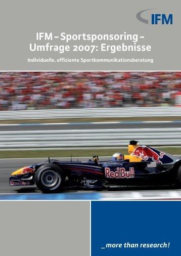 IFM-Sportsponsoring- Umfrage 2007 - SPONSORING EXTRA NEWS