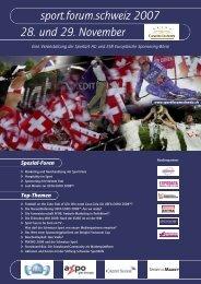 sport.forum.schweiz 2007 28. und 29. November