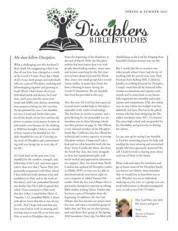 Disciplers Newsletter | Spring & Summer 2021