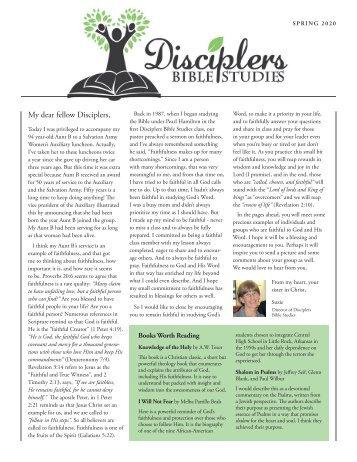 Disciplers Newsletter | Spring 2020