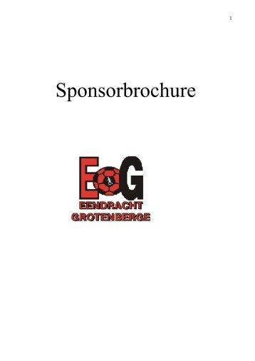Sponsorbrochure - Eendracht Grotenberge