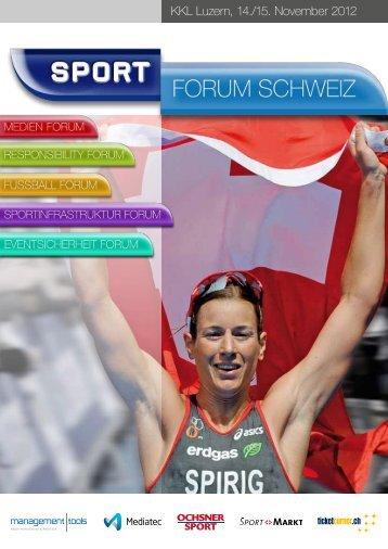 Zum Programm (pdf) - Sport.forum.schweiz