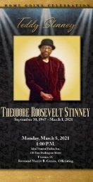 Theodore Stinney Memorial Program