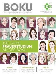 BOKU Magazin - 100 Jahre Frauenstudium an der BOKU