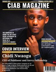 Interview with Chidi Nwaogu CEO of Publiseer and Savvy Fellowship: CHANGEINAFRICA BUSINESS Issue 1.1