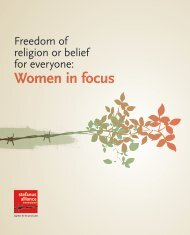 Freedom of religion and belief for everyone - Women in focus