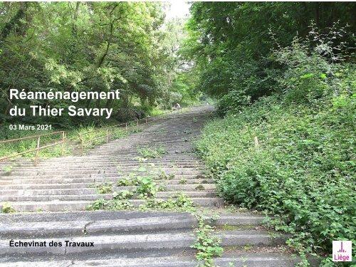 Réaménagement du Thier Savary