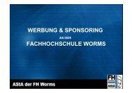 WERBUNG & SPONSORING FACHHOCHSCHULE WORMS