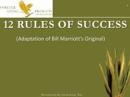 12 RULES OF SUCCESS - Forever Living Products Nigeria