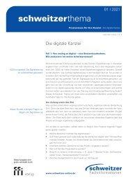 Schweitzer Thema 01/21: Die digitale Kanzlei Teil1