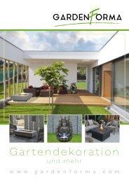 Gardenforma Wasserspiele und Gas-Feuerstellen