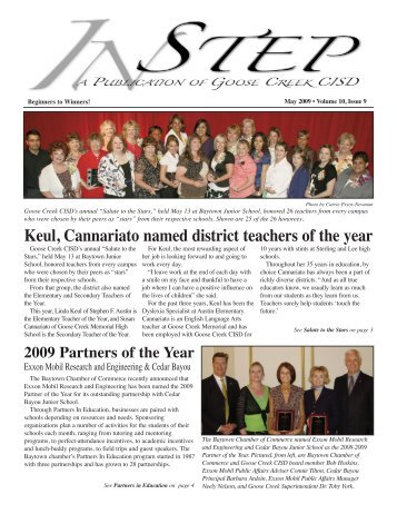 Keul, Cannariato named district teachers of the year - Goose Creek ...