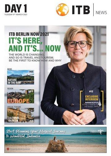 ITB Berlin News 2021 - Day 1 Edition