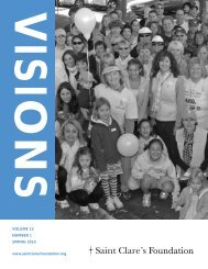 Visions - Spring 2010 - Saint Clare's Foundation