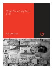 Global Private Equity Report 2010 - Bain & Company