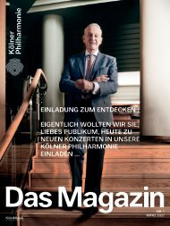 Kölner Philharmonie Das Magazin 01/2021