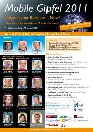 Mobile Gipfel 2011 - Management Forum