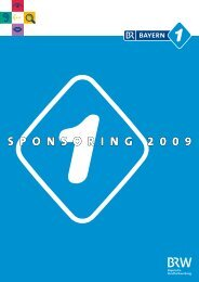 Sponsoring 2009 Programm 2009 Im