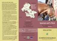 Spontan auf's Pferd - Naturpark Schwäbisch Fränkischer Wald