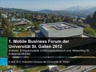 Inhalte. - CCMB - Universität St.Gallen
