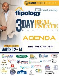 Flipology 101: The Boot Camp with Ramon Tookes - March 12-14, 2021