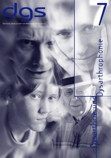 Dysarthrie/Dysarthrophonie - Deutsche Gesellschaft für ...
