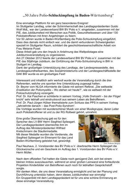50jahrepolio Schluckimpfung In Baden Württemberg