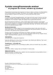 Fysiske energifremmende øvelser - DakiniHealing