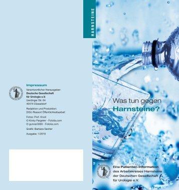 Was tun gegen Harnsteine? - Urologische Klinik Startseite