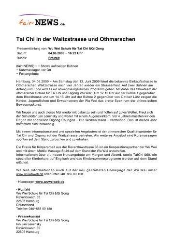 PDF :: fair-NEWS.de :: Tai Chi in der Waitzstrasse und Othmarschen