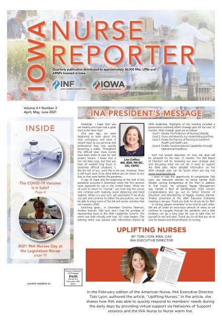 Iowa Nurse Reporter - April 2021