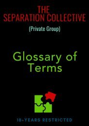 The Separation Collective - Glossary of Terms