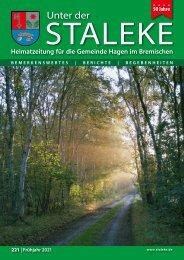 Unter der Staleke 221, Frühjahr 2021