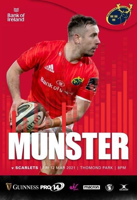 Munster Rugby v Scarlets Match Programme