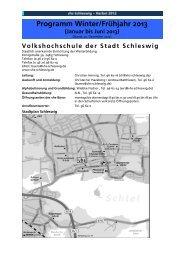 Das Programm für den Herbst 2012 (August 2012 - VHS Schleswig